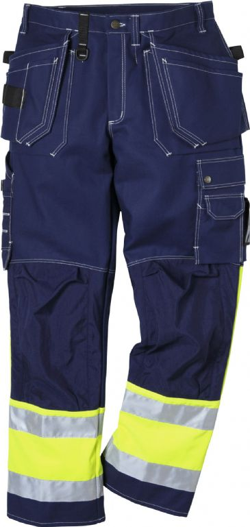 Fristads High Vis Craftsman Trousers CL 1 247 FAS (Blue)